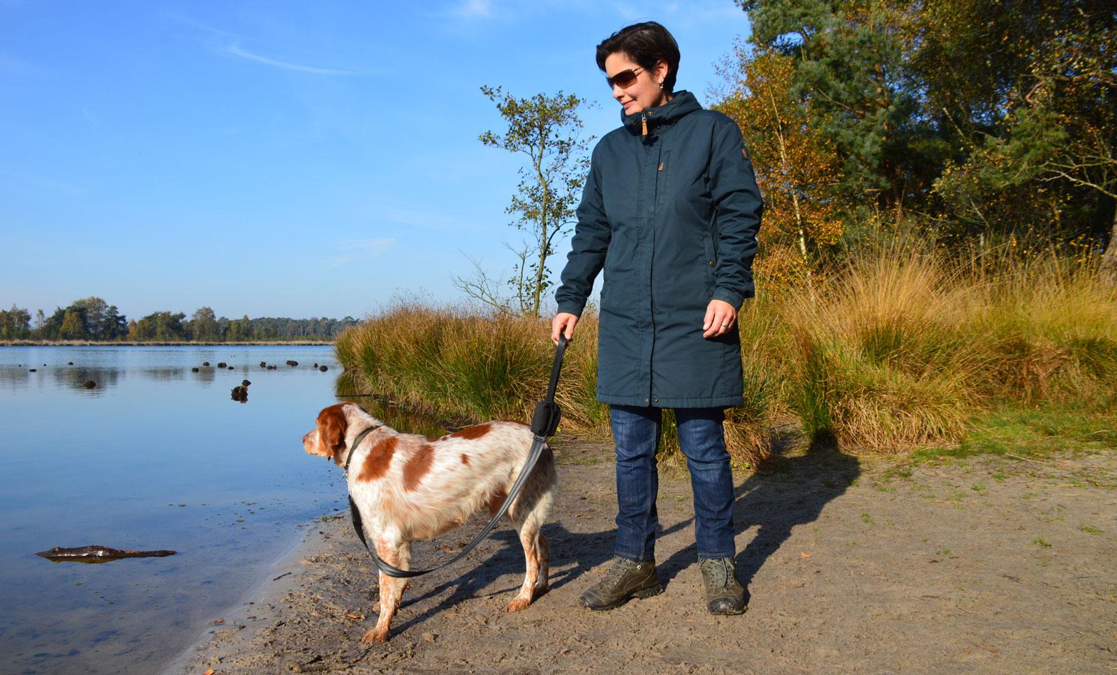 Beau with dog leash
