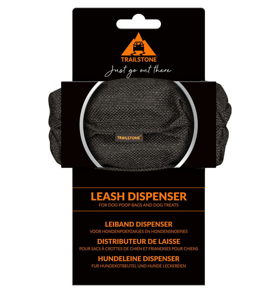 Trailstone leash dispenser
